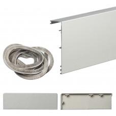 Маскировочная планка для системы Herkules Glass, цвет: Серебро